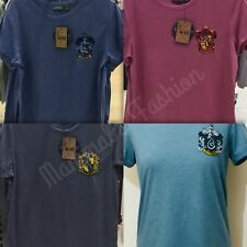 Ladies Primark Harry Potter Slytherin/Ravenclaw/Gryffindor/Hufflepuff T-shirt To