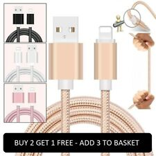 1M 2M 3M Strong Duty Braided Lightning USB Charger Cable For iPhone 5 6 7 8 X