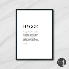 LAGOM & HYGGE Swedish Danish living art print language typography cosy minimal