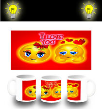 TAZZA EMOTICON AMORE LOVE VALENTINO FOTOLUMINESCENTE glow mug E'