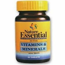 NSalut - Vitaminas y Minerales con Hierro 450mg 60 tabletas.Nature Essential