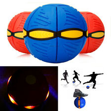 Magic Flying Saucer Light UFO Flat Throw Disc Ball Toy Catch Game Outdoor