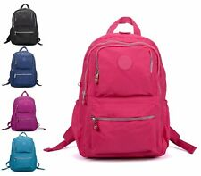 LADIES NYLON UNISEX RETRO CAMPING BACKPACK RUCKSACK SCHOOL COLLEGE TRAVEL BAG