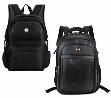 BLACK OXFORD UNISEX RETRO COMBAT BACKPACK RUCKSACK SCHOOL COLLEGE UNI TRAVEL BAG