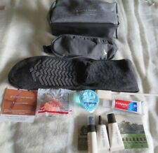 BN 3 CATHAY PACIFIC BUSINESS CLASS AMENITY KITS ZIPPED BAGS MAKE UP HENS STAGS