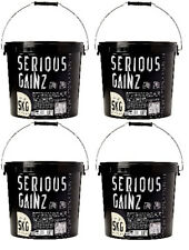BLOCCO PROTEINE SERIO gainz Weight Gainer 5KG CUSTODIA of 4 vanilgia MASSA