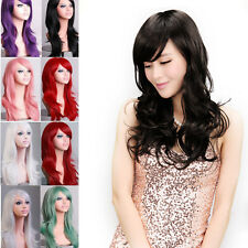 Ladies Wig Natural Curly Straight Wavy Fancy Dress Fashion Hair Wig Cosplay