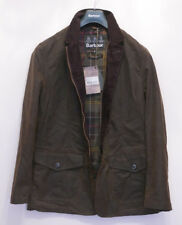 BNWT £229 Mens Barbour Lutz waxed smart olive green jacket M Medium 38