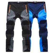 Men Softshell Fleece Liner Hiking Outdoor Pants Ultra Thin Breathable Trouser