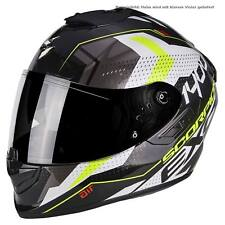 SCORPION exo-1400 Air TRIKA Casco de moto integral Touring - Blanco y negro Neon