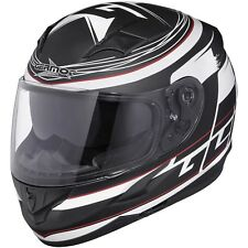 GERMOT GM 306 Decoración CASCO INTEGRAL ABS / policarbonato - Mate Negro Blanco