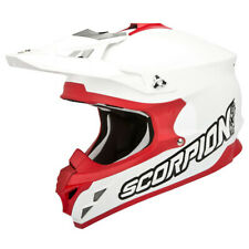 SCORPION vx-15 EVO Aire Sólido CASCO CROSS - Blanco Rojo
