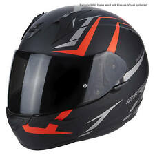 SCORPION exo-390 HAWK Casco de moto integral Touring - Mate Negro NEON ROJO