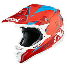 IXS HX 179 Flash Casco da cross motocross TRI-COMPOSITE - ROSSO BLU