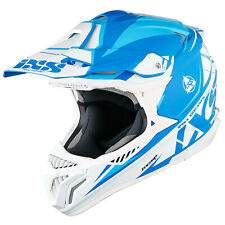IXS HX 179 Flash Casco da cross motocross TRI-COMPOSITE - Bianco Blu Blu