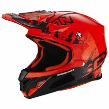 SCORPION vx-21 AIR mudirt MOTO CASCO DA CROSS - NEON NERO ROSSO