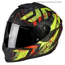 SCORPION exo-1400 AIR PICTA CASCO MOTO TOURING - NERO OPACO neon GE
