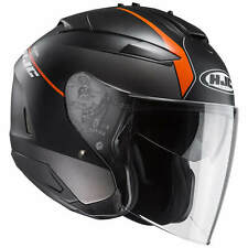 HJC IS-33 II NIRO moto Casque jet - Noir Orange Mat