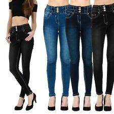 WOMENS HIGH WAISTED SKINNY JEANS RIPPED LADIES JEGGINGS SIZES 6 8 10 12 14 16 18