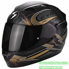 SCORPION exo-1200 Air fulgur Casco de moto integral Touring - Mate Negro Oro