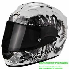 SCORPION exo-1200 Air Tenebris Casco de moto integral Touring - Plata Blanco