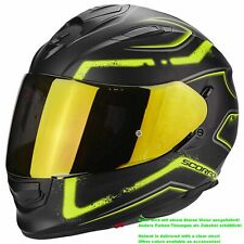 SCORPION exo-510 AIR radio Casco de moto integral Touring - Mate Negro Neon GE