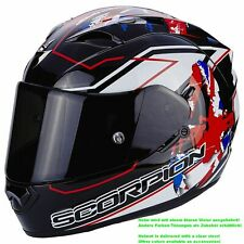 SCORPION exo-1200 Air Alto Casco de moto integral Touring - Negro Blanco Rojo