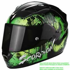 SCORPION exo-1200 Air Tenebris Casco de moto integral Touring - Negro Verde