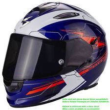 SCORPION exo-510 Air Cross Casco de moto integral Touring - Azul Blanco Rojo