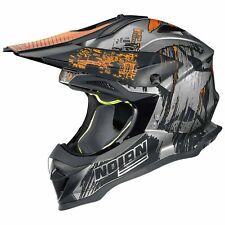 nolan n53 cliffhanger CASQUE CROSS MOTO Lexan ™ - Rayé chrome