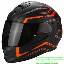 scorpion exo-510 air RADIUM Casque de moto intégral TOURING - Noir Orange Mat