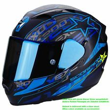 SCORPION EXO-1200 AIR Solis CASCO MOTO TOURING - Nero Opaco Blu