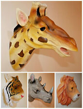 Wall Mounted Hanging Novelty Realistic Resin Animal Head Ornament Decoration UK
