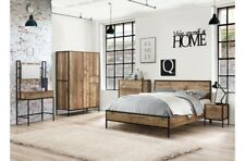 Birlea Urban 4ft6 Double 5ft King Size Wood Metal Frame Rustic Style Bedframe