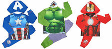 Hulk Captain America Iron Man Superman Spiderman Batman Pyjamas Super Hero BNWT