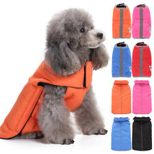 For Pet Dog Puppy Gift Reflective Warm Coat Clothes Jacket Reversible Apparel