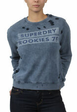 Superdry Sweatshirt Damen DISTRESS BOXY SWEAT Fret Blue