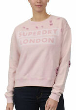 Superdry Sweatshirt Damen DISTRESS BOXY SWEAT Lex Violet