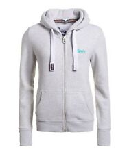 Ladies Superdry Orange Label Primary Ziphood in Ice Marl