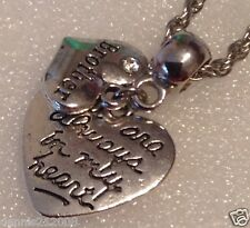 Charm bracelet necklace European Clipon   heart  Brother memorial  loss CN112