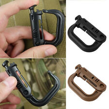 Outdoor Tactical Gear Carabiner Backpack Keychain D-Ring Spring Snap Clip FG