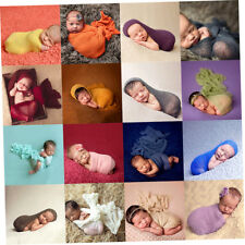 Newborn Baby Photography Props Blanket Rayon Stretch Knit Wraps 40*150cm IE