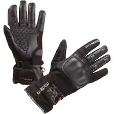 Modeka TACOMA Mujer Guantes de Mujer Cuero/Textil Impermeable - Negro
