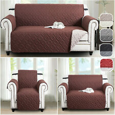 Sofa Covers Quilted Sofa Cover Furniture Protector Throw Waterproof with STRAP