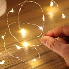 2/5/10M Button Battery Operated LED Copper Wire String Fairy Lights JM