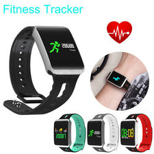 Bluetooth Smart Watch Blood Pressure Heart Rate Monitor Fitness Activity Tracker