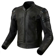 REV'IT! AKIRA AIR vintage giubbotto moto in pelle da uomo Sport - marrone scuro