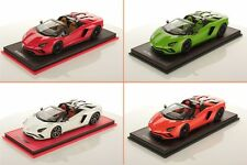 Lamborghini Aventador S Roadster White Red Orange Green Blue - Ltd 49 pc MR 1/18