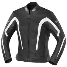 IXS Kelly Giacca in pelle moto donna - nero bianco