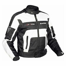 Racer GP Team Men's Biker Jacket Touring - White Black